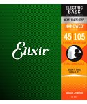 Elixir 14087 NanoWeb Medium Extra long scale 45-105 struny basowe